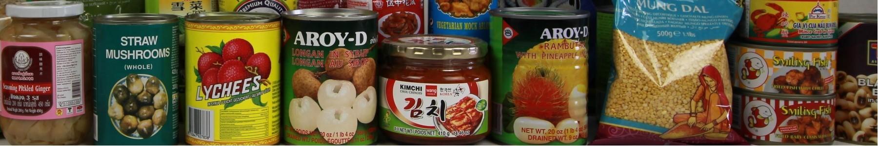 Conserven aziatische producten