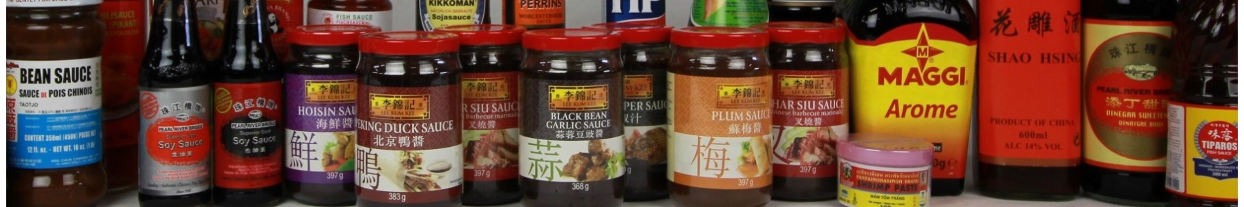 Sauces, vinagre and oil