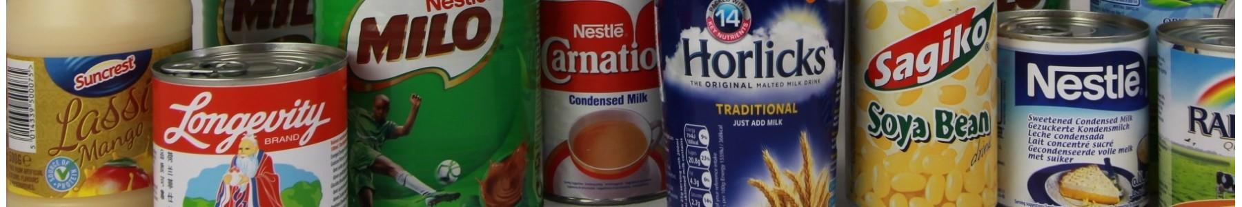 Soja drankjes en melkhoudende drankjes