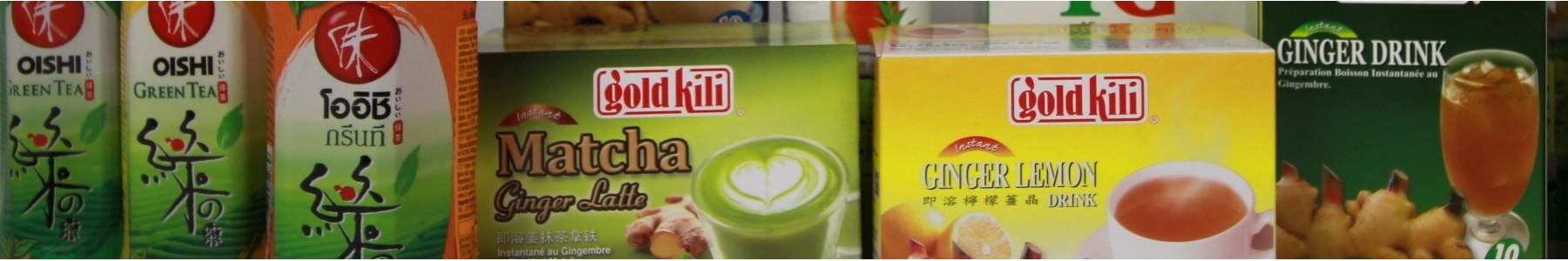 Een groot assortiment aan koffie en thee uit Azië